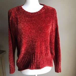 Rust color chenille sweater XS